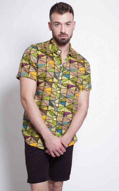 Camisa Impresión Verde 1