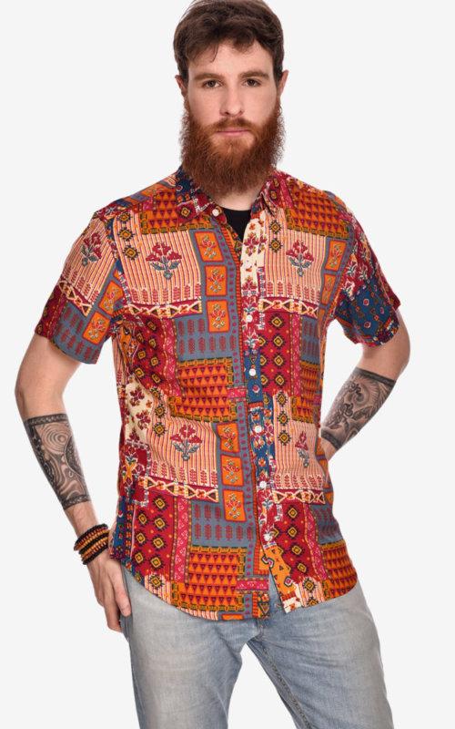 camisa-manga-corta-estampado-rock-pachwork
