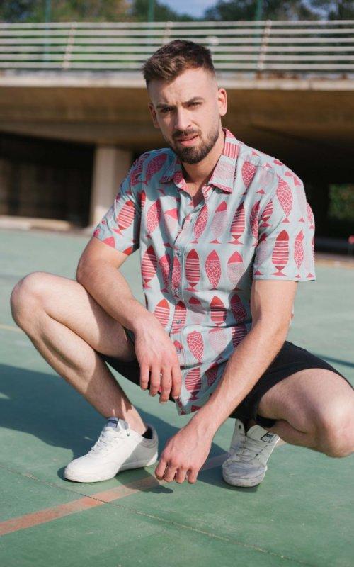 Camisa Piscis manga corta - Más Masala