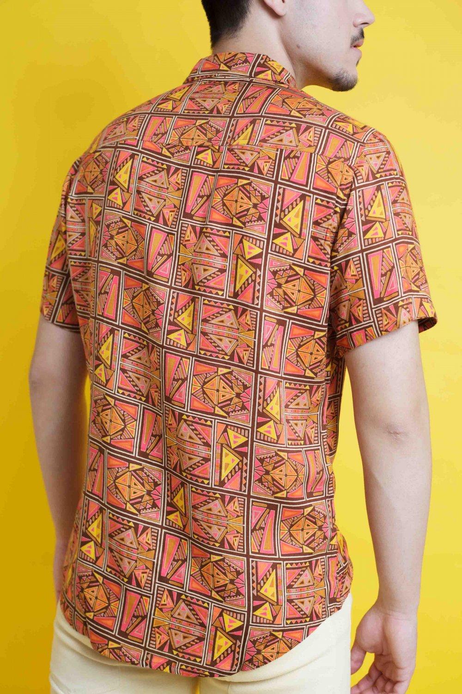 Camisa Tierra manga corta - Más Masala