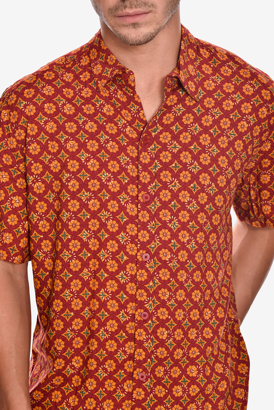 camisa-manga-corta-estampado-rock-calora