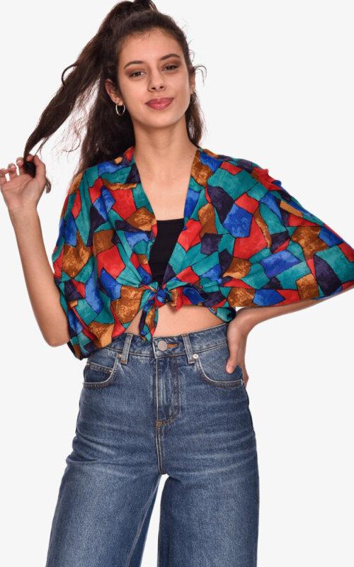 kimono-corto-camisa-top-estampado-bolero